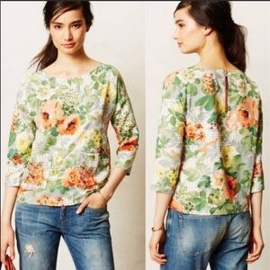 HD in Paris {Anthro} bloomfield floral pocket top